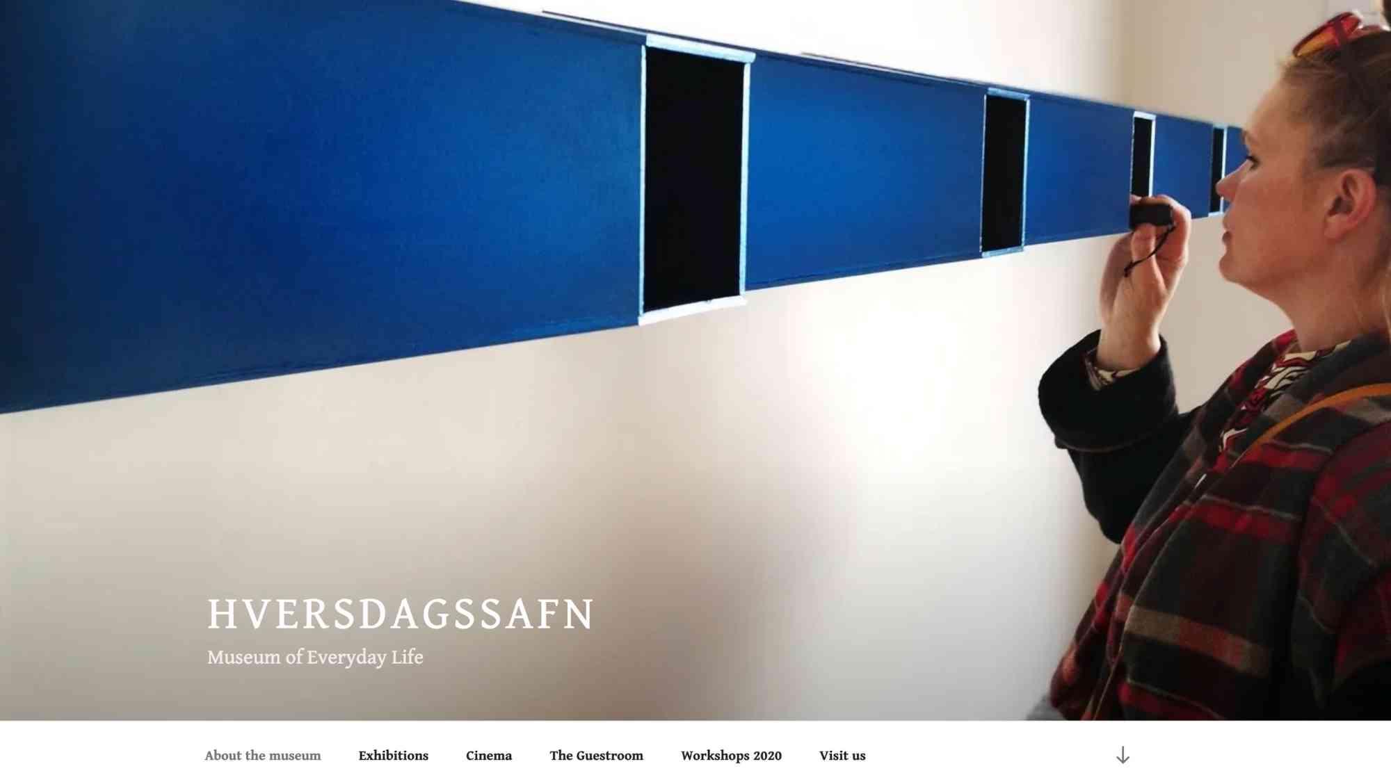 hversdagsafn vefsíða screenshot